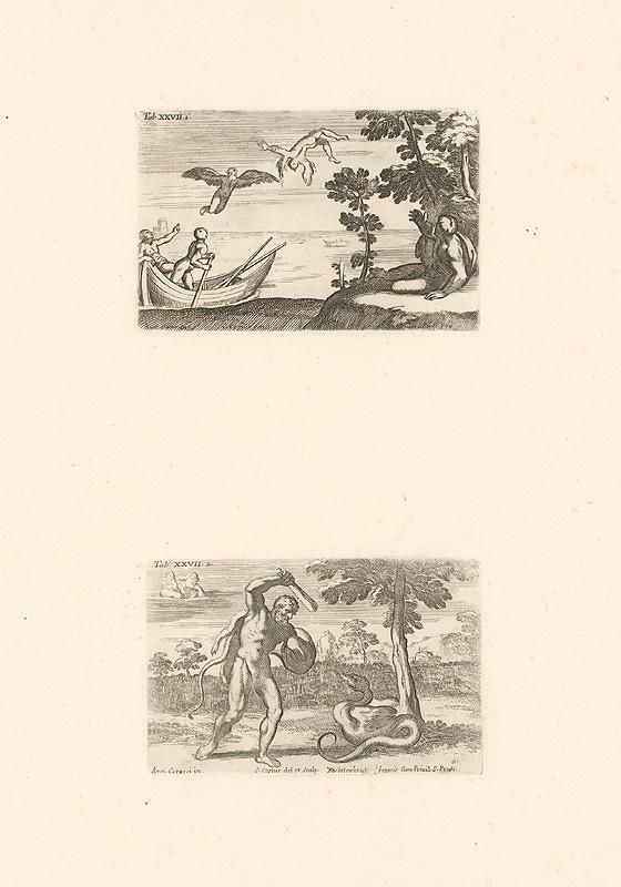 Annibale Carracci, Carlo Cesio - Daidalos a Ikaros, Herkules a Dragon,Tab.XXVII.1.,2.