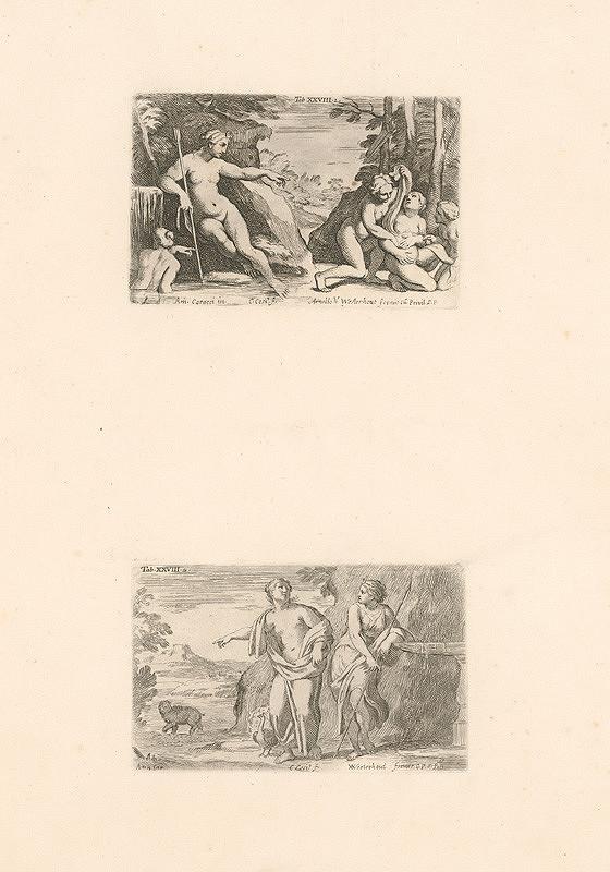 Carlo Cesio, Annibale Carracci – Artemis a nymfy.Artemis,Tab.XXVIII.1.,2.