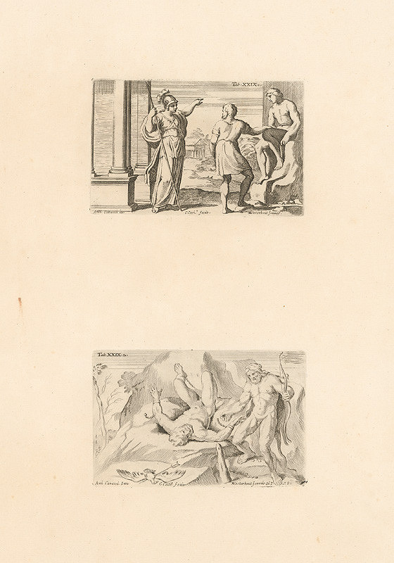 Carlo Cesio, Annibale Carracci - Athéna.Prométheus a Herakles.Tab.XXIX.1.,Tab.XXIX.2.
