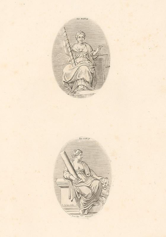 Carlo Cesio, Annibale Carracci - Spravodlivosť.Sila.Tab.XXX.3.,4.