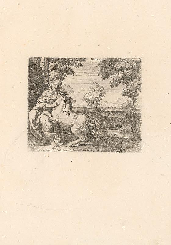 Carlo Cesio, Annibale Carracci – Dáma s jednorožcom,Tab.XXXI.