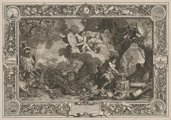 Charles le Brun, Sebastien Le Clerc st. – Ľudovít XIV., apoteóza