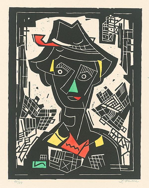 Ľudovít Fulla - Mladý muž v klobúku