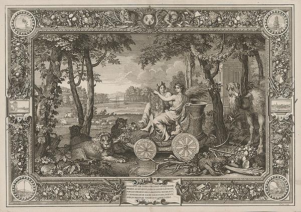 Charles le Brun, Sebastien Le Clerc st. – Apoteóza Blahobytu za Ľudovíta XIV.