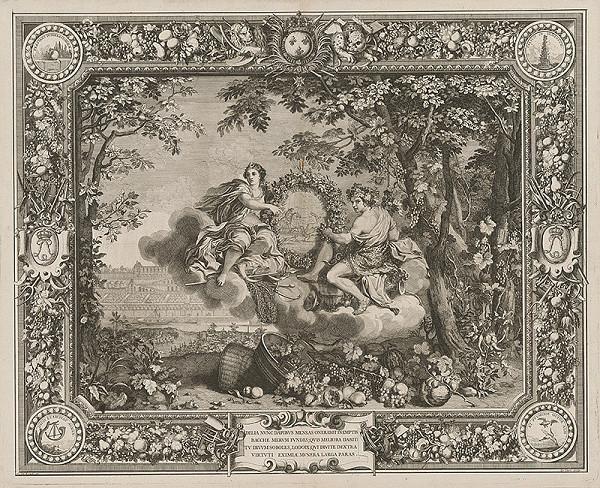 Charles le Brun, Sebastien Le Clerc st. - Bakchus, patrón dobrej úrody hrozna