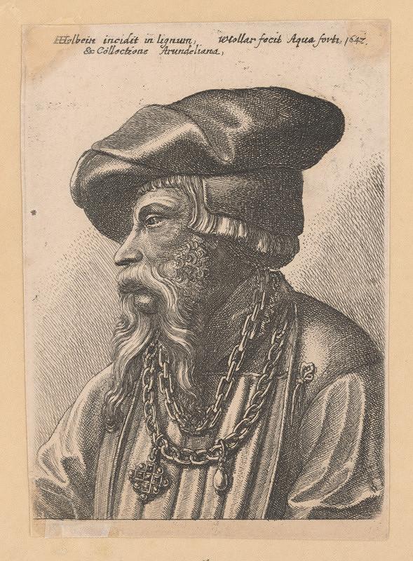 Václav Hollar, Hans Holbein st. – Hlava muža