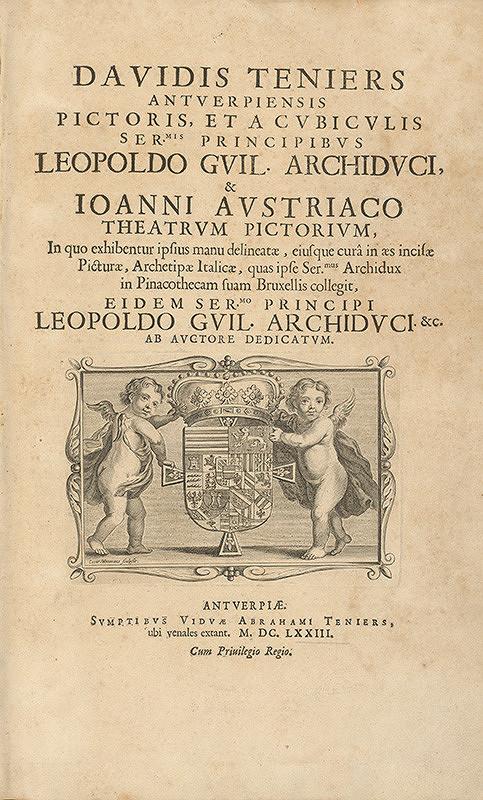 Coenrad Waumans, David Teniers ml. – Ilustrácia titulného listu - erb arcikniežaťa Leopolda Wilhelma Habsburského