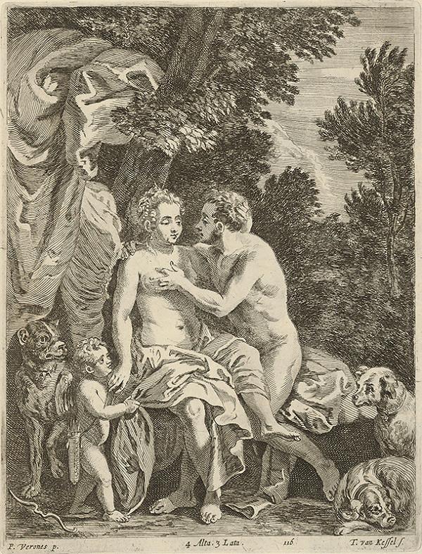 Paolo Veronese, Théodorus van Kessel, David Teniers ml. - Venuša a Adonis
