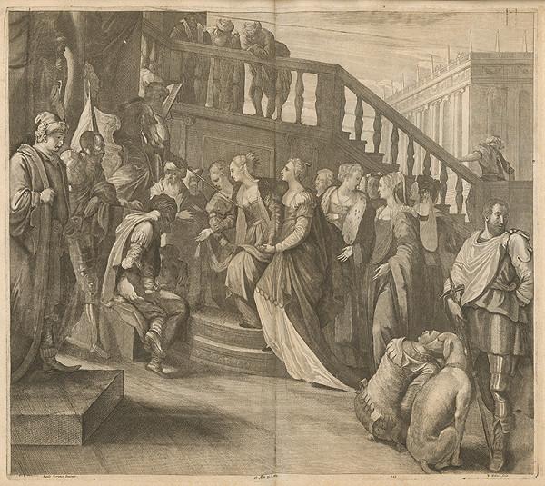 Paolo Veronese, Václav Hollar, David Teniers ml. – Šalamún prijíma kráľovnú zo Sáby