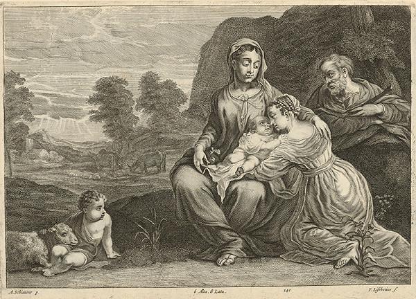 Peter Lisebetius, Andrea Schiavone, David Teniers ml. - Svätá rodina s malým Jánom Krstiteľom a sväticou
