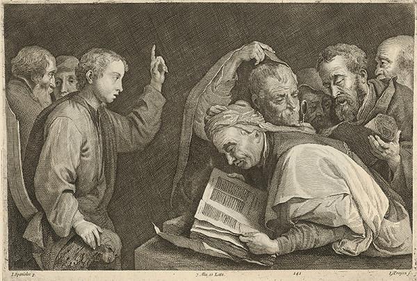 Jan van Troyen, Jusepe de Ribera, David Teniers ml. - 12 ročný Ježiš  chráme