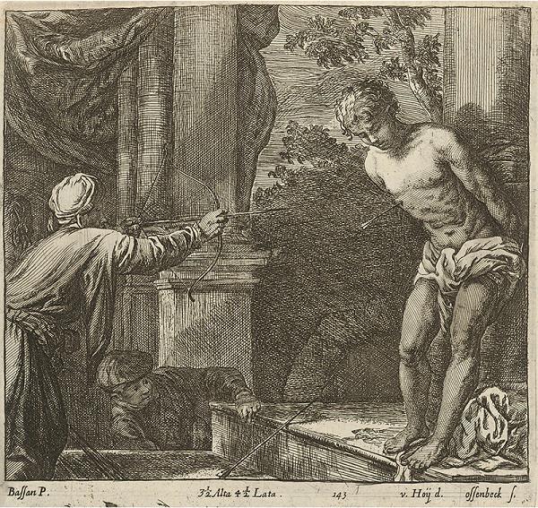Jacopo Bassano, Nikolaus van Hoy, Jan van Ossenbeck - Umučenie sv. Sebastiána (?)