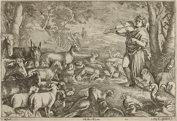 Francesco Bassano II., Leandro Bassano, Nikolaus van Hoy, Hoy Ossenbeck - Orfeus a zvieratá