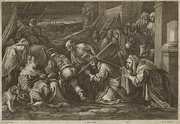 Jacopo Bassano, Théodorus van Kessel, David Teniers ml. - Krížová cesta - Veronika a plačúce ženy