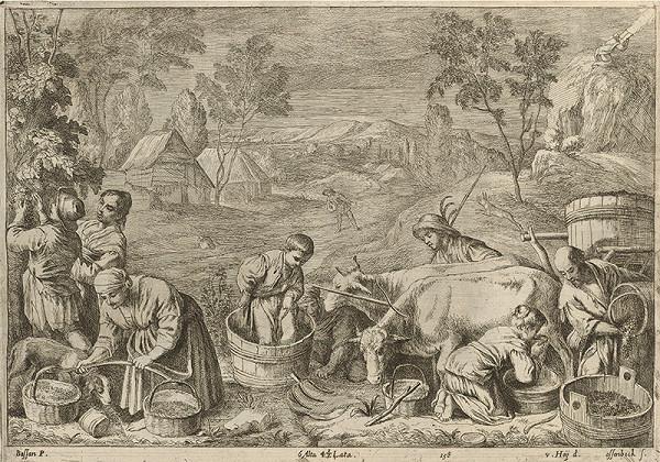 Francesco Bassano II., Leandro Bassano, David Teniers ml. – Jeseň - štyri ročné obdobia