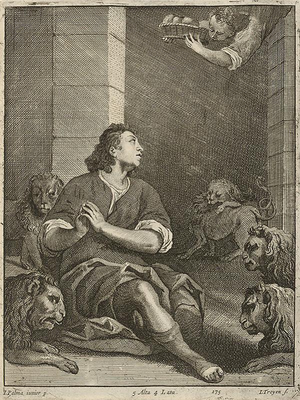 Jacopo, il giovane Palma, Jan van Troyen, David Teniers ml. – Prorok Daniel v jame levovej