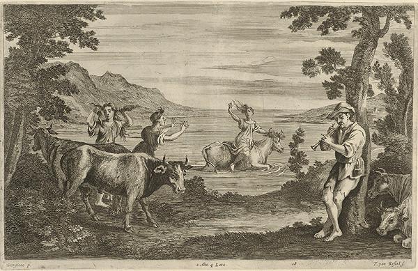 Giorgione, Théodorus van Kessel, David Teniers ml. – Únos Európy