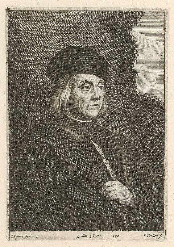 Jacopo, il vecchio Palma, Jan van Troyen, David Teniers ml. - Portrét muža v čiapke