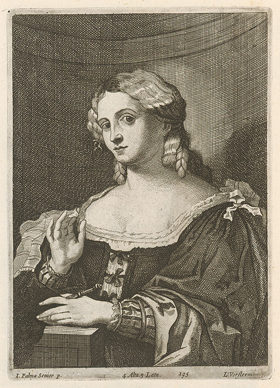 Lucas Vorsterman, Jacopo, il vecchio Palma, David Teniers ml. - Portrét ženy  s kapesníčkom a s knihou