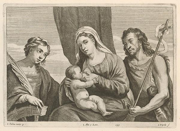 Jacopo, il giovane Palma, Jan Popels, David Teniers ml. - Dojčiaca Madona s Jánom Krstiteľom a svätou Katarínou - sacra conversatione