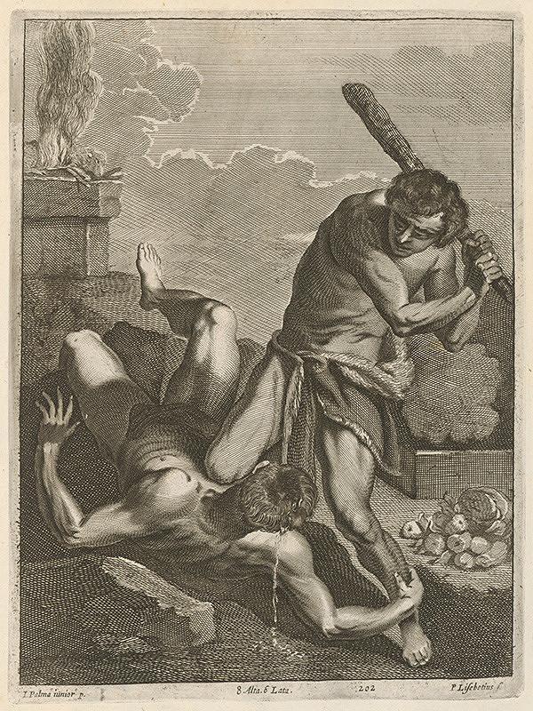 Jacopo, il giovane Palma, Peter Lisebetius, David Teniers ml. - Káin zabíja Ábela