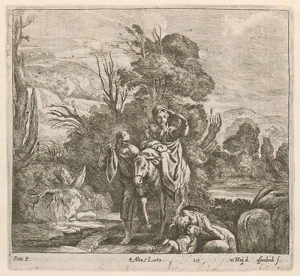 Domenico Fetti, Nikolaus van Hoy, Jan van Ossenbeck – Útek do Egypta