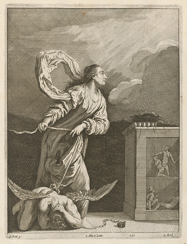Domenico Fetti, David Teniers ml., Quirin Boel - Svätá Júlia Nikomédska zviazala diabla