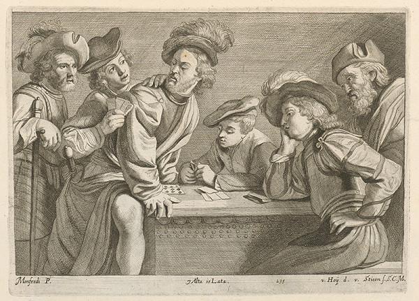 David Teniers ml. – Vojaci hrajú karty
