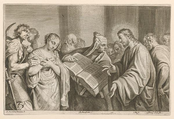 David Teniers ml., Franciscus van der Steen - Kristus a cudzoložnica