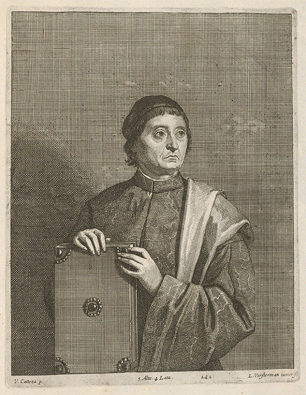 David Teniers ml., Lucas Vorsterman ml. - Portrét muža s knihou