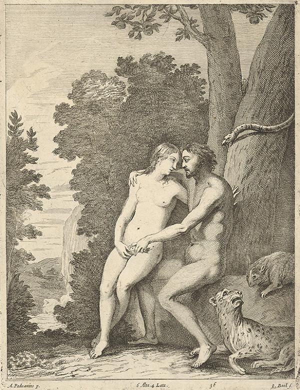 Quirin Boel, David Teniers ml. – Adam a Eva v raji