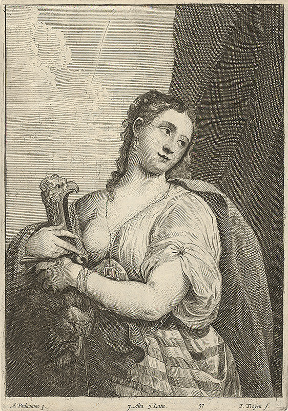 Jan van Troyen, David Teniers ml. - Judita s hlavou Holoferna