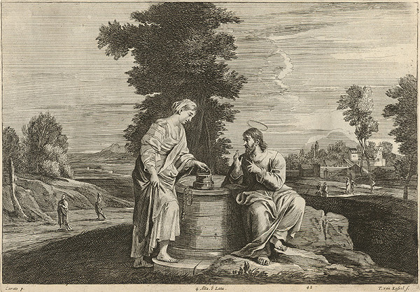 Annibale Carracci, Théodorus van Kessel, David Teniers ml. – Kristus a samaritánka pri studni