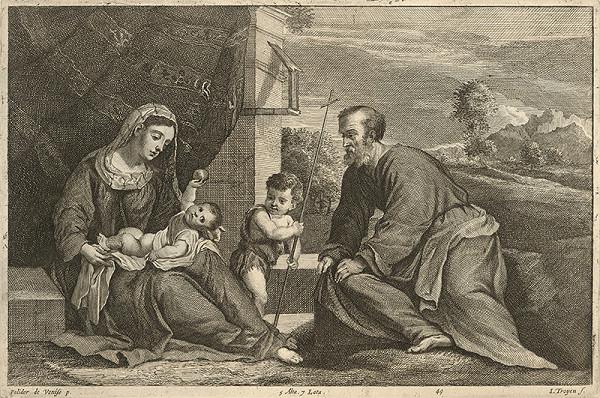 Polidorus, Jan van Troyen, David Teniers ml. – Svätá rodina so svätým Jánom Krstiteľom
