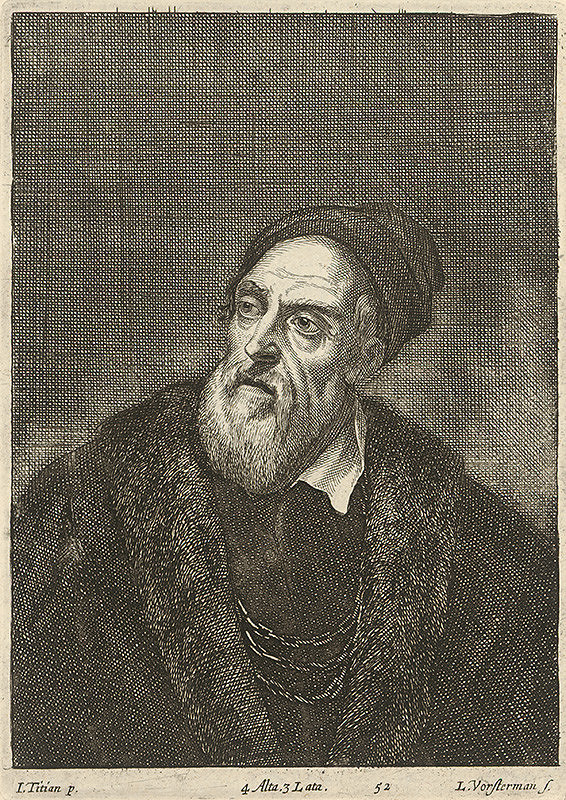 Titian, Lucas Vorsterman, David Teniers ml. - Polpostava muža podľa Titiana
