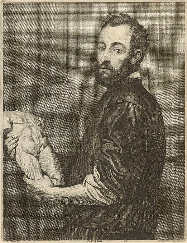 Titian, Lucas Vorsterman ml., David Teniers ml. - Portrét sochára podľa Titiana