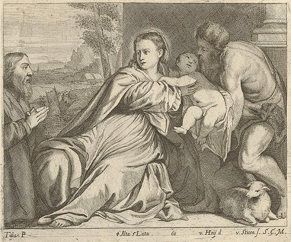 Titian, Nikolaus van Hoy, V. Hoy de van Stieen – Madona s Jánom Krstiteľom a donátorom
