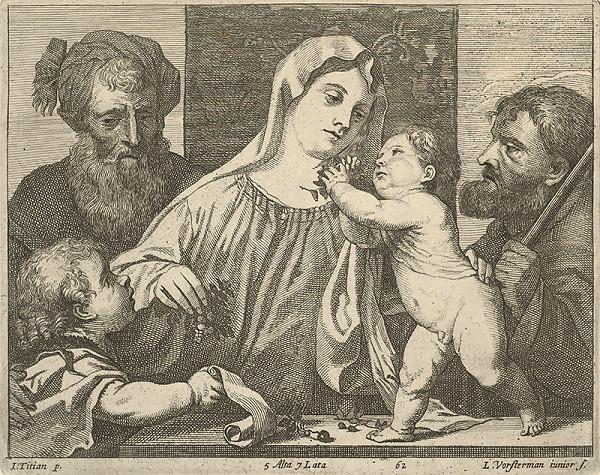 Titian, Lucas Vorsterman ml., David Teniers ml. – Svätá rodina s donátorom podľa Titiana