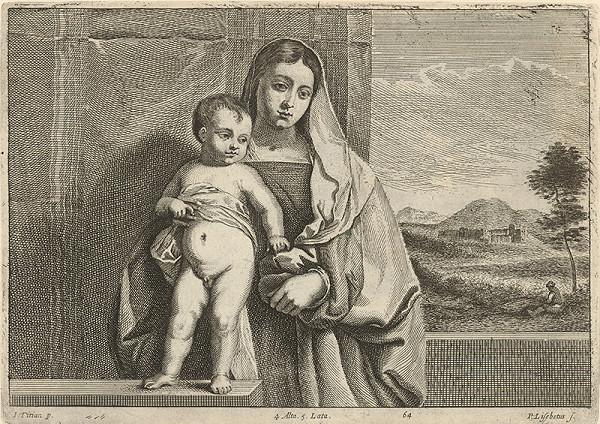 Titian, Peter Lisebetius, David Teniers ml. - Madona s výhľadom na krajinu