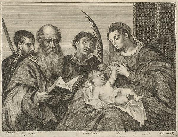Titian, Peter Lisebetius, David Teniers ml. – Madona so svätcami