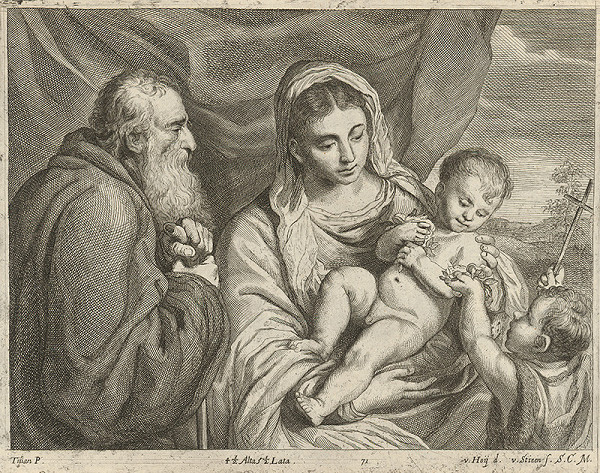 Titian, Nikolaus van Hoy, V. Hoy de van Stieen - Madona s Jánom Krstiteľom a svätým pustovníkom