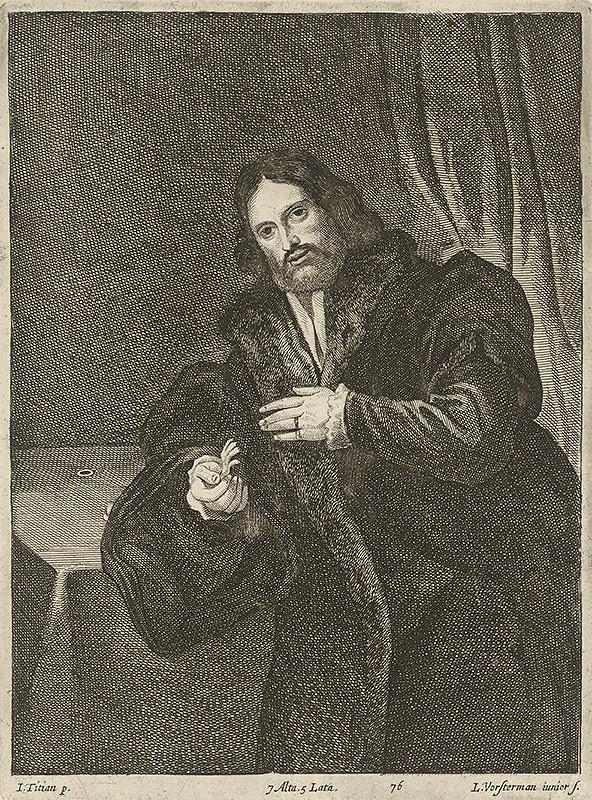 Titian, Lucas Vorsterman ml., David Teniers ml. - Portrét muža s vtáčou paprčkou