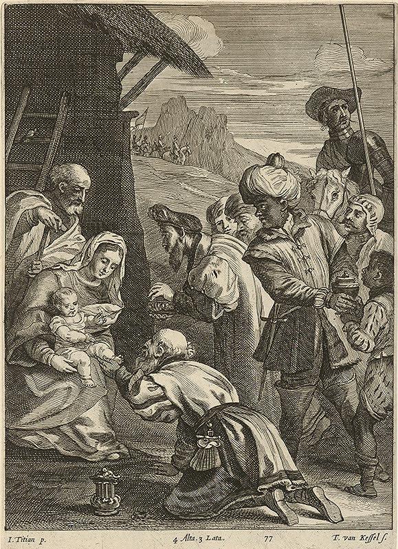 Titian, Théodorus van Kessel, David Teniers ml. - Klaňanie troch kráľov