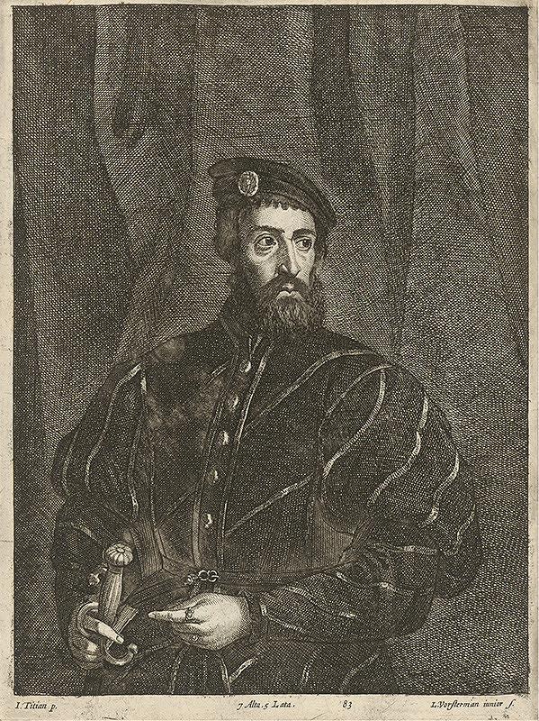 Titian, Lucas Vorsterman ml., David Teniers ml. - Portrét muža s mečom podľa Titiana