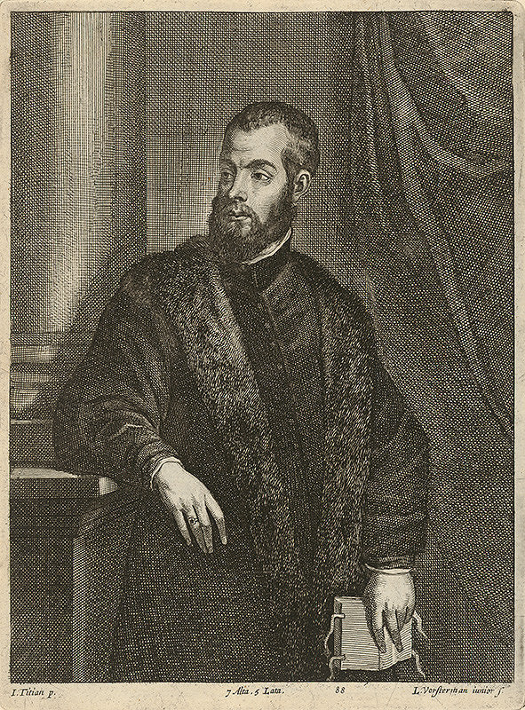Titian, Lucas Vorsterman ml., David Teniers ml. – Portrét muža s knihou podľa Titiana