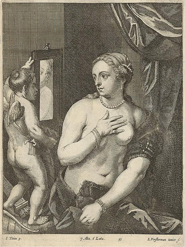 Titian, Lucas Vorsterman ml., David Teniers ml. - Venuša a Kupido