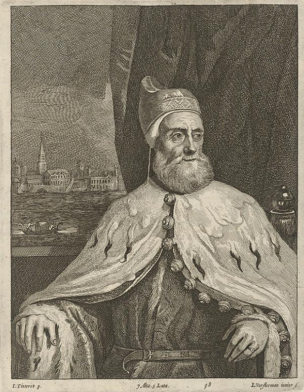 Lucas Vorsterman ml., David Teniers ml., Jacopo Tintoretto - Portét dóžu s výhľadom na Benátky