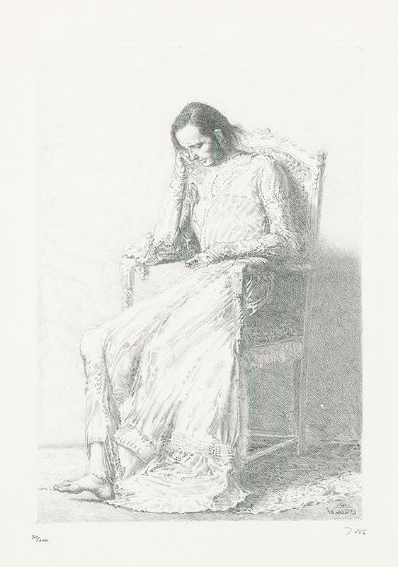 Werner Tübke - Portrét Brigity