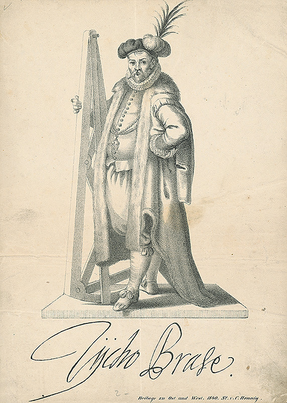 Carl Hennig - Podobizeň Tycha de Brahe