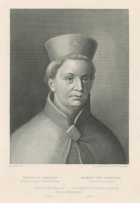 Josef Vojtěch Hellich, C.F. Merckel – Podobizeň Arnošta z Pardubíc